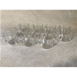 11 small glass teacups