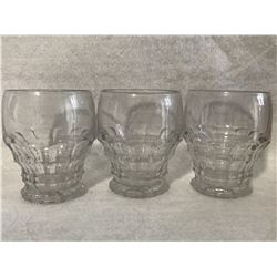 3 small cocktails glasses