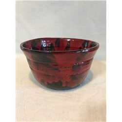 Red Pottery Bowl