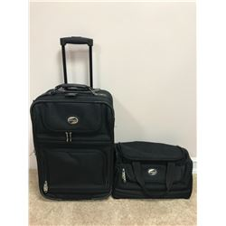 Suitcase and dufflebag