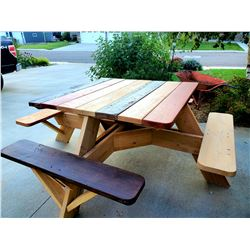 Custom Hand Made Family Picnic Table