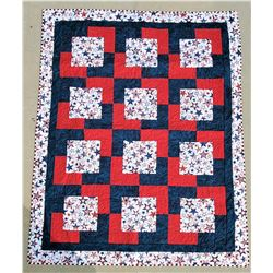 Red, White, & Blue Star Quilt