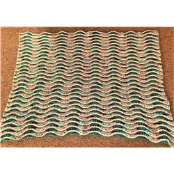 Ripple Crocheted Afghan