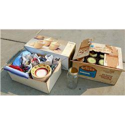 Mason Jars & Dish Set