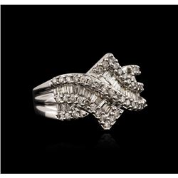10KT White Gold 0.70 ctw Diamond Ring
