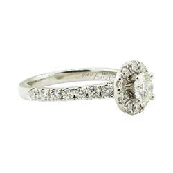 1.36 ctw Diamond Engagement Ring - 14KT White Gold