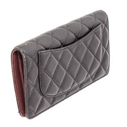 Chanel Black Quilted Lambskin Leather CC Yen Wallet