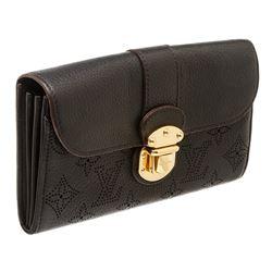Louis Vuitton Black Mahina Monogram Leather Amelia Wallet