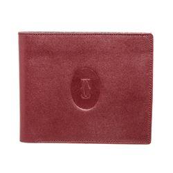 Cartier Burgundy Leather Bifold Wallet