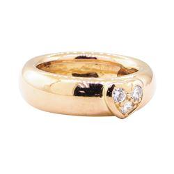 0.15 ctw Diamond Heart Motif Ring - 18KT Rose Gold