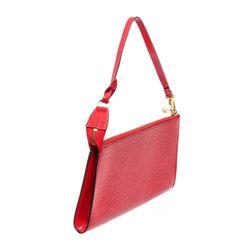 Louis Vuitton Red Epi Leather Pochette Shoulder Bag