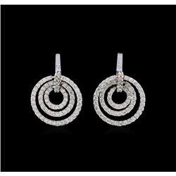14KT White Gold 0.85 ctw Diamond Earrings