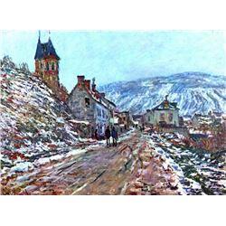 Claude Monet - Road to Vetheuil in Winter