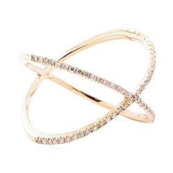 0.27 ctw Diamond Crossover Motif Ring - 14KT Rose Gold