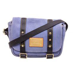 Louis Vuitton Blue Canvas Antigua Besace Messenger Bag
