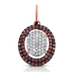 14k Rose Gold  0.32CTW Diamond and Brown Diamonds Pendant