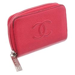 Chanel Red Caviar Leather Timeless Coin Purse