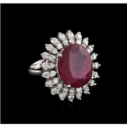 14KT White Gold 11.56 ctw Ruby and Diamond Ring