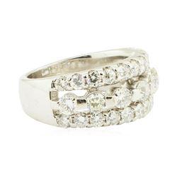 1.90 ctw Diamond Anniversary Ring - 14KT White Gold