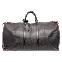 Louis Vuitton Black Epi Leather Keepall 60 cm Duffle Bag Luggage