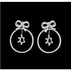 14KT White Gold 1.36 ctw Diamond Earrings