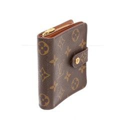 Louis Vuitton Brown Monogram Canvas Leather Compact Zippe Wallet