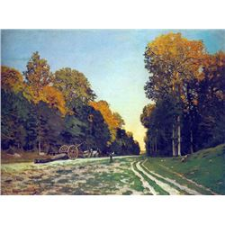 Claude Monet - The Road from Chailly to Fontainebleau