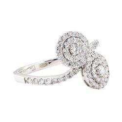0.78 ctw Diamond Ring - 14KT White Gold