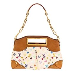 Louis Vuitton White Multicolor Judy MM Satchel Handbag