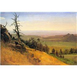 Wasatch Mountains Nebraska by Albert Bierstadt