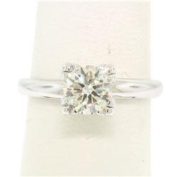 14k White Gold 0.83 ctw I VVS2 Round Brilliant Cut Diamond Solitaire Ring