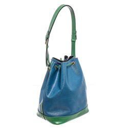 Louis Vuitton Blue Green Epi Leather Noe PM Drawstring Shoulder Bag