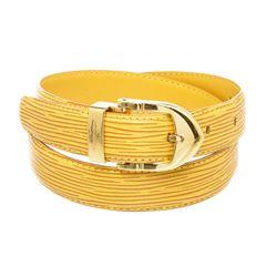 Louis Vuitton Yellow Epi Leather Skinny Classique Belt 85