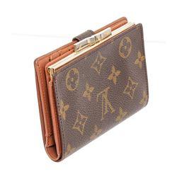 Louis Vuitton Monogram Canvas Leather French Purse Wallet