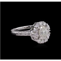 1.74 ctw Diamond Ring - 14KT White Gold