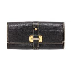 Louis Vuitton Black Suhali Leather Le Favori Wallet
