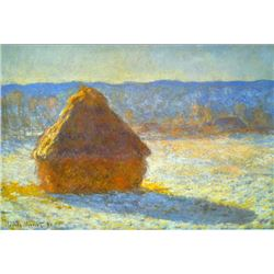Claude Monet - Haystacks in Snow