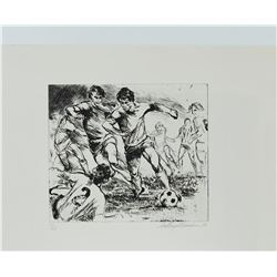 Soccer (Black & White) by LeRoy Neiman 75/250