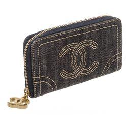 Chanel Sparkling Denim CC Coin Case Card Wallet