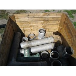 WOODEN CRATE OF MISC IRRIGATION PARTS