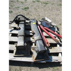 PALLET WITH 2 - TRAILER SUPPORTS ETC.