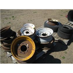 LOT OF ASSORTED TIRES & RIMS