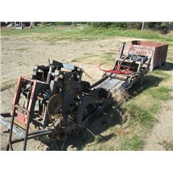 OLD CONVEYOR SYSTEM FROM TURF HARVESTER
