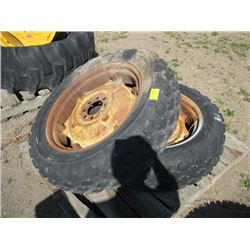 PR OF TRACTOR TIRES 9.5-24 ON RIMS