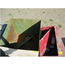PALLET WITH 2 STEEL BOXES & CONTENTS