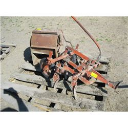 PALLET WITH SMALL CULTIVATOR & FAN