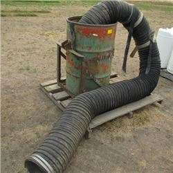 45 GAL. DRUM CARRIER FOR 3pt HITCH & LARGE FLEX TUBE