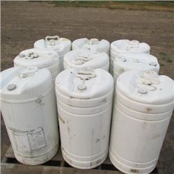 9 - 65 KG CONTAINERS OF HYDROGEN PEROXIDE 50%