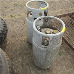2 OUTDATED PROPANE FORKLIFT TANKS