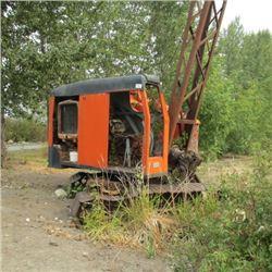 ANTIQUE NORTHWEST CRANE WORKED WHEN PARKED, CAT ENGINE